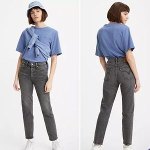 Levi's Wedgie Fit Cropped Washed Black